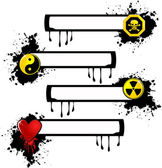 Symbol banner — Stock Vector