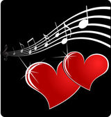 Music heart — Stock Vector