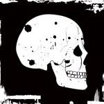 Grunge vector skull — Stock Vector #2031180