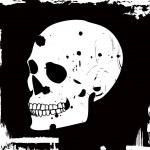 Grunge vector skull — Stock Vector #2031204