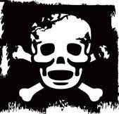Grunge vector skull — Stock Vector