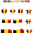 Belgium flag icon — Stock Vector