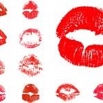 Vector kiss icons — Stock Vector