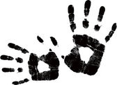 Vector black handprint — Stock Vector