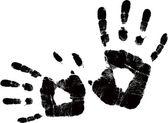 Vector black handprint — Stock Vector