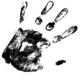 Vector hand print — Stock Vector