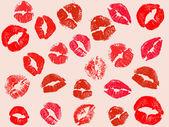 Vektorové pozadí kiss — Stock vektor