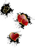 Vector valentine's hearts — Stock Vector