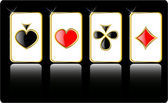 Vector spelen kaartenset — Stockvector
