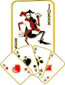 Vector joker — Stock Vector