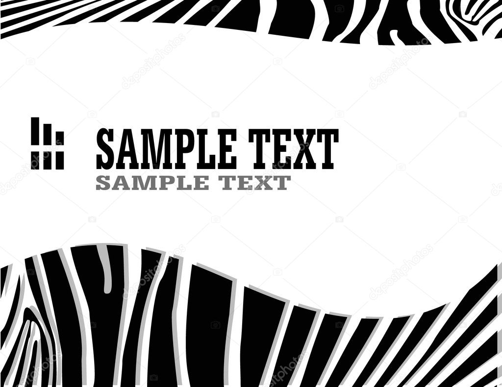 斑马抽象背景与文本