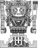 Vector mayan and inca tribal symbols — Stockvektor