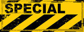 Vector grunge danger banner — Stock Vector
