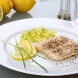 Fish dish - Foto Stock