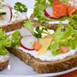 Healthy eating - whole grain bread — Stock Photo