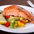Grilled salmon - Stockfoto