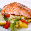 Grilled salmon — Stock Photo #1747443