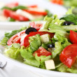 Vegetable salad with cheese - Foto Stock
