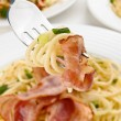Pasta with bacon — Stock Photo #1779543