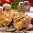 Stuffed fried chicken fillets — Stock Photo