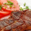Stock Photo: Grilled steak with vegetable salad