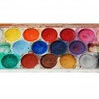 Watercolor paints isolated on white — Stock Photo