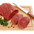 Raw beef on cutting board isolated — Stock Photo #2501902