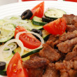 Stock Photo: Grilled meat and vegetable salad