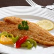 Stock Photo: Fried fish fillet with vegetables