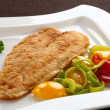Fried fish fillet with vegetables — Stock Photo #2502193