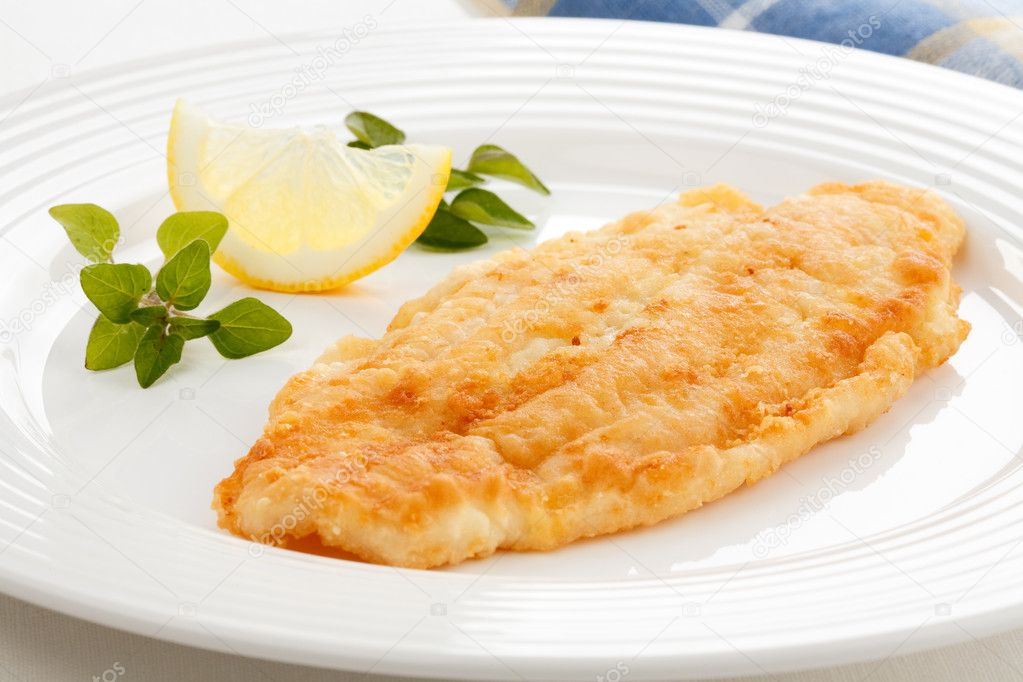 Fried fish fillet — Stock Photo © gbh007 #2502378