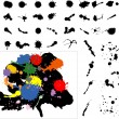 Royalty-Free Stock Vektorový obrázek: Highly detailed ink blots