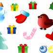 Royalty-Free Stock Vektorfiler: Christmas season ornaments