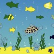 Royalty-Free Stock Vector Image: Ocean and sea life  vector illustration