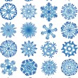 Beautiful crystal gradient snowflakes — Stock Vector #1653331