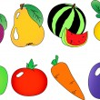 Royalty-Free Stock Vector Image: Fruits and berries collection