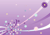 ベクターの花の抽象 — ストックベクタ