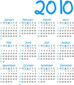 Vector calender 2010 — Vetorial Stock