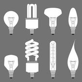 Lamps, bulbs, lighting equipment — Stock Vector