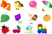 Abstract toy vector icon set — Stock Vector