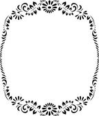 Floral circle pattern, ornament design — Stock Vector