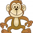 Funny monkey - illustration image — Stock Vector