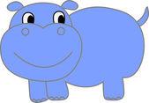 Grappige hippopotamus - illustratie — Stockvector