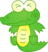 Funny crocodile - illustration image — Stock Vector