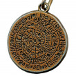 Vintage mystery amulet from old metal — Stock Photo
