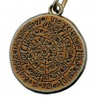 Stock Photo: Vintage mystery amulet from old metal