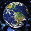 Earth blue planet in space — Stock Photo #1932394