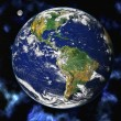 Stock Photo: Earth blue planet in space