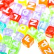 Colourful alphabet blocks background — Stock Photo #1938128