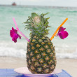 Tropical pineapple cocktail drink — Stock Photo